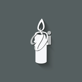 candle design element - vector illustration. eps 10
