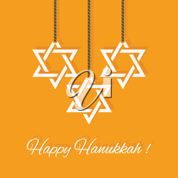 Happy Hanukkah card - vector illustration. eps 8