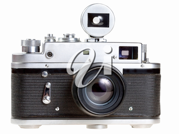 old film photocamera isolated on white