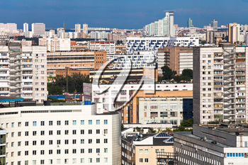 dense residential development in Moscow city