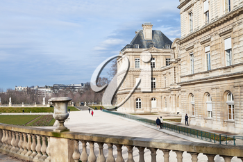 Luxembourg Palace in Paris in early spring