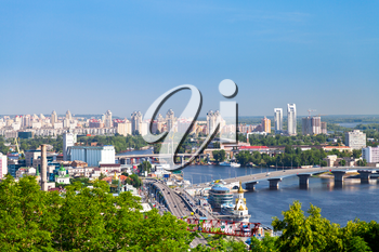Kiev cityscape and Dnieper river, Ukraine