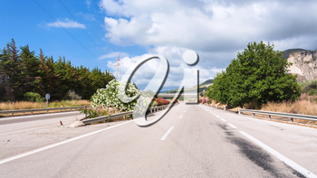 travel to Italy - main highway in Sicily in summer day