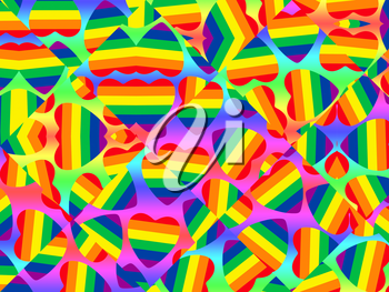 Multicolored gay pride symbol abstract background.