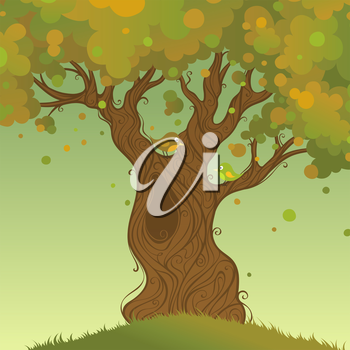 Autumn landscape. Vector illustration. There is place for your text.