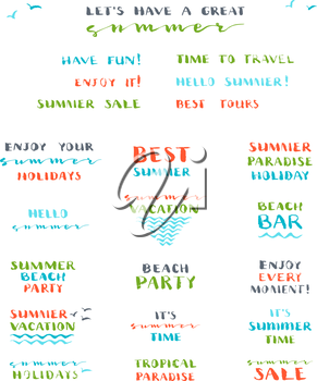 Hello Summer! Best Tours. Have Fun! Enjoy It! Summer Beach Party. Summer Time. Summer Sale. Enjoy Summer Holidays. Summer Vacation. Tropical Paradise.