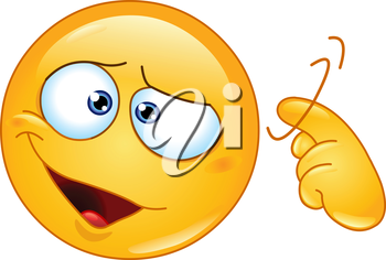 Emoticon showing a screw loose sign by twisting his finger into temple. You are crazy sign.