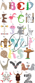 Royalty Free Clipart Image of an Animal Alphabet