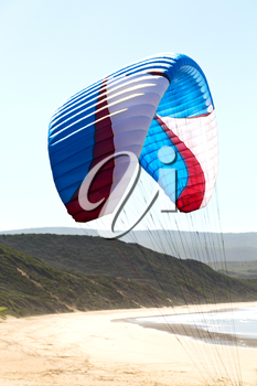 kite surfing colors in the sky background