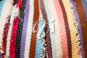 abstract texture of a colorful blanket patchwork like background