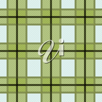 Seamless checkered vector colorful pattern mainly in warm green light blue colors