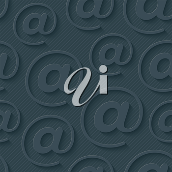 Dark gray e-mail wallpaper. 3d seamless background. Vector EPS10.