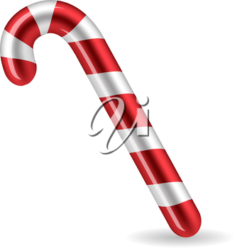 Candy Cane isolated on white background. Vector illsutration