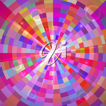 Abstract Colorful Tunnel Bright Background. Vector illustration