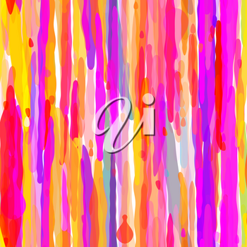 Abstract Colorful Drip Seamless Pattern. Vector illustration