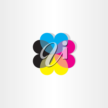 abstract hearts business icon design