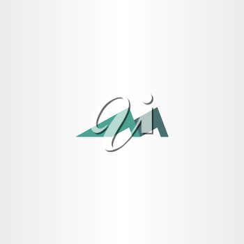 logo mountain letter m icon symbol