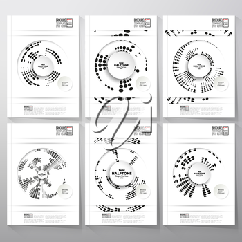 Digital backgrounds with circle halftone vector elements. Brochure, flyer or report for business, template vector.