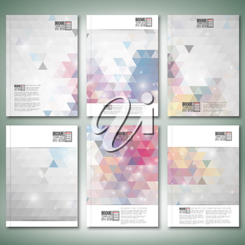 Abstract colored backgrounds, triangle design vector. Brochure, flyer or report for business, templates vector.
