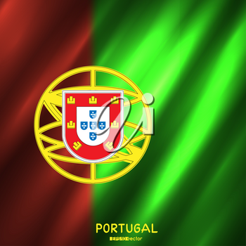 National Portugal flag background. Country Portuguese standard banner backdrop