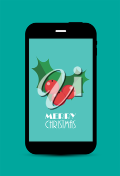 Abstract Christmas and New Year Mobile Phone Background. Vector Illustration EPS10