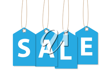 Sale Banner. Isolated on White. Vector Illustration EPS10