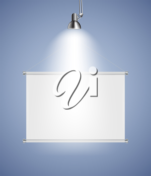 Background with Lighting Lamp and Frame. Empty Space for Your Text or Object. EPS10