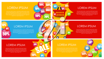 Sale Banner Set with Place for Your Text. Vector Illustration EPS10