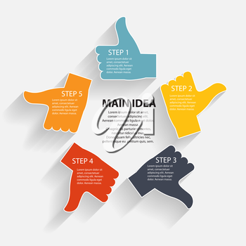 Infographic business template vector illustration. for you