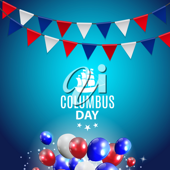 Colored Vector Illustration of Columbus Day. EPS10