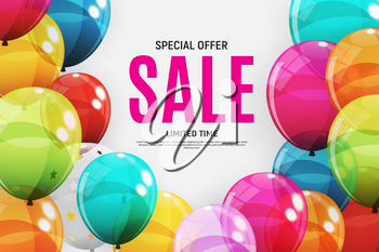 Abstract Designs Sale Banner Template. Vector Illustration EPS10