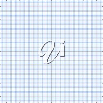 Graph paper grid background, blue color, 2d illustration, vector, eps 8