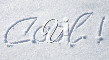 Cool! Hand drawn text over fresh snow