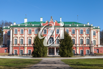 TALLINN - MAY 04: Kadriorg park with Palace facade on May 04, 2013 in Tallinn, Estonia. Kadriorg Palace  now it is the result of renovation ordered by Nicholas I of Russia in 1827