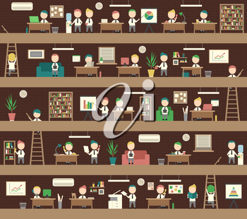 Seamless Background Office Concept Coworking Space People Management