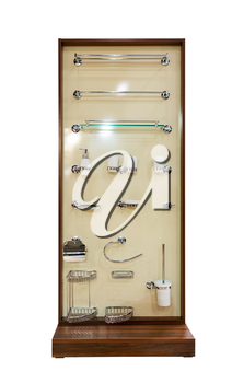 Display with modern shower tools
