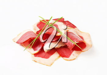 Thinly sliced smoked duck breast