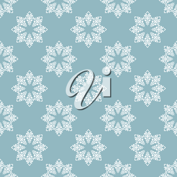 Seamless pattern. Snowflakes made of swirls and floral elements. Texture for print, wallpaper, home decor, textile, package design