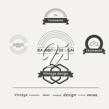 Set of simple vector elements for design.
