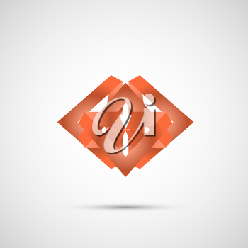 Color line abstract symbol. Vector eps 10.