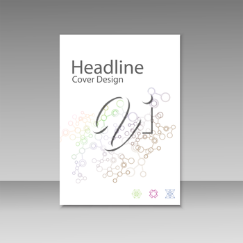 Cover brochure template with connect molecule background.