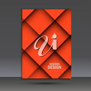Modern vector brochure design template with abstract line.