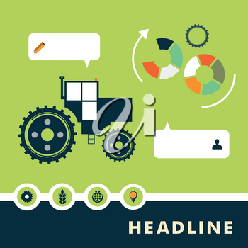 Set of planar vector characters relating to agriculture.