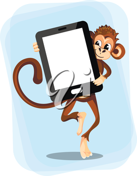 monkey with a smartphone for text