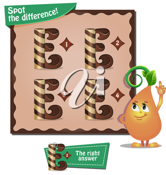 Visual Game for children. Task: Spot the difference letters e