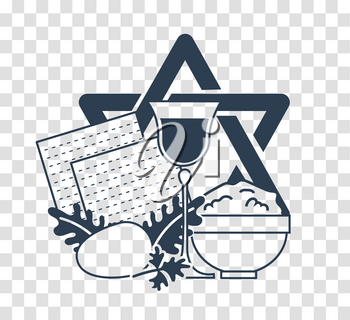 Icon  on the holiday - Pesach. silhouette icon in the linear style