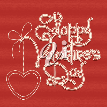Valentines Day Retro hand drawn lettering.