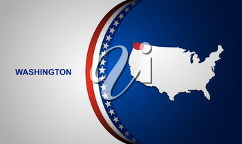 Washington map vector background