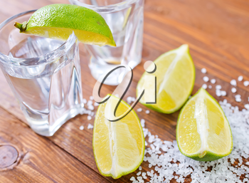 limes and salt for tequila