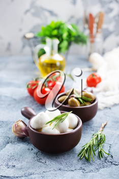ingredients for caprese salad on a table